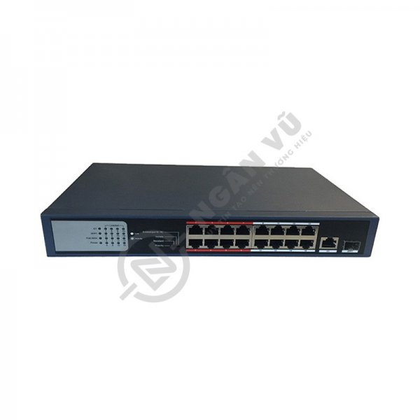 Switch mạng PoE 16 cổng HDS-SW1016POE/M